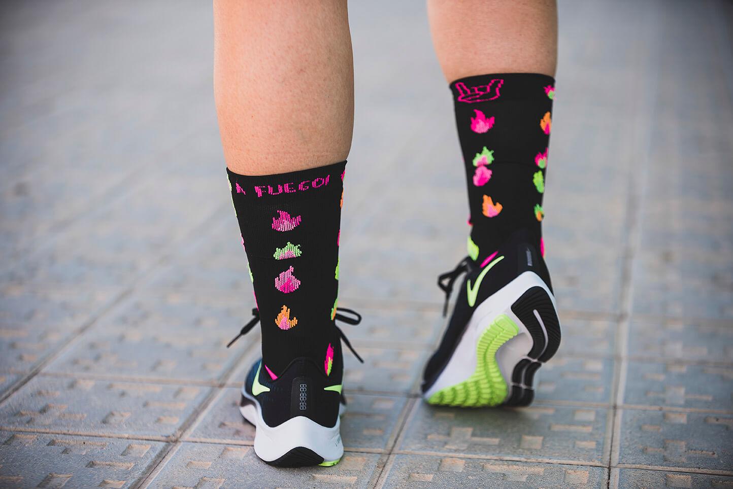 calcetín llamas